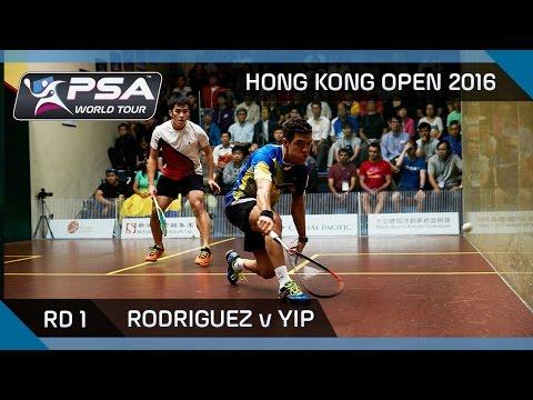 Squash: Hong Kong Open 2016 - Rodriguez v Yip - Rd 1 Highlights
