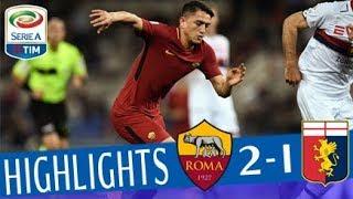 Roma - genoa 2-1 - highlights - giornata 33 - serie a tim 2017/18