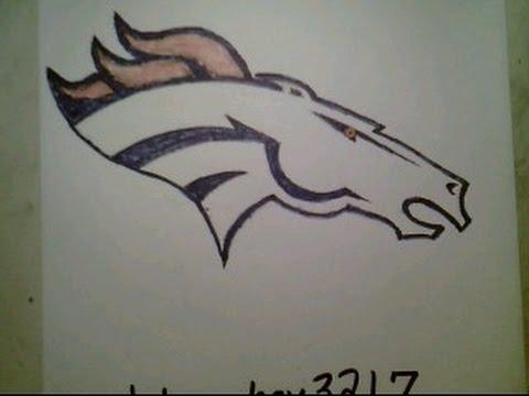 How To Draw Denver Broncos Logo NFL Easily Super Bowl 50 Peyton Manning Retires