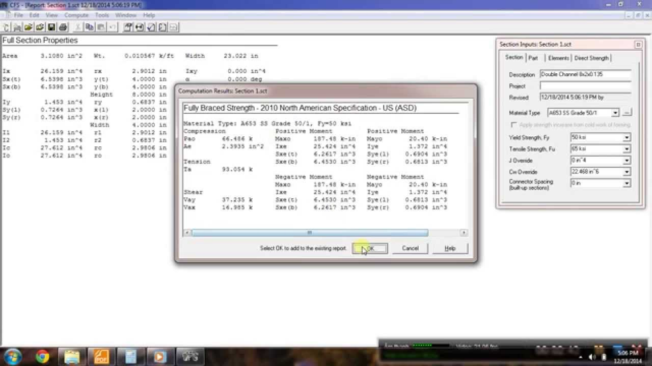 Cold-formed steel(CFS) software - YouTube