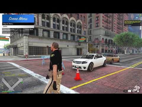 How To Spawn Traffic Objects As A Police Officer - WhiteRhino09 RP Server