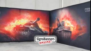 Big Fabric Printing For Trade Show Booths