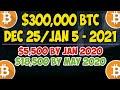 $300k Bitcoin by Dec 25 2021 - Jan 5 2022?