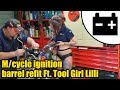 Motorcycle ignition barrel refit Ft Tool Girl Lilli #1462