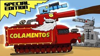 """Monster COLAMENTOS vs GT44"" - Cartoons about tanks"