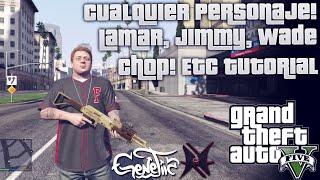 GTA V Jugar Como Cualquier Personaje! Lamar, Jimmy, Wade, Chop etc TUTORIAL  Xbox 360