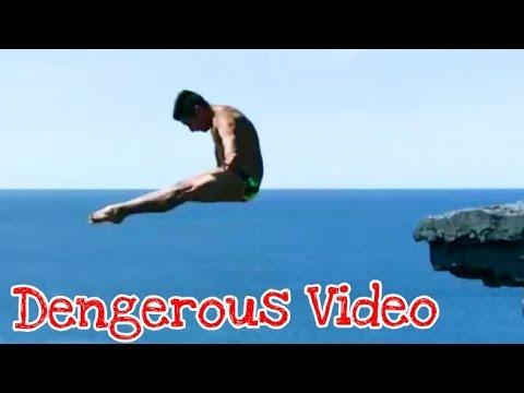 Dengerous Video Diving from Irish skies - Red Bull Cliff Diving Wo