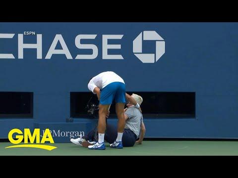 Tennis star Novak Djokovic abruptly disqualified from US Open l GMA