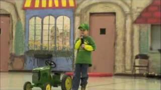 John Deere Kid singing Big Green Tractor