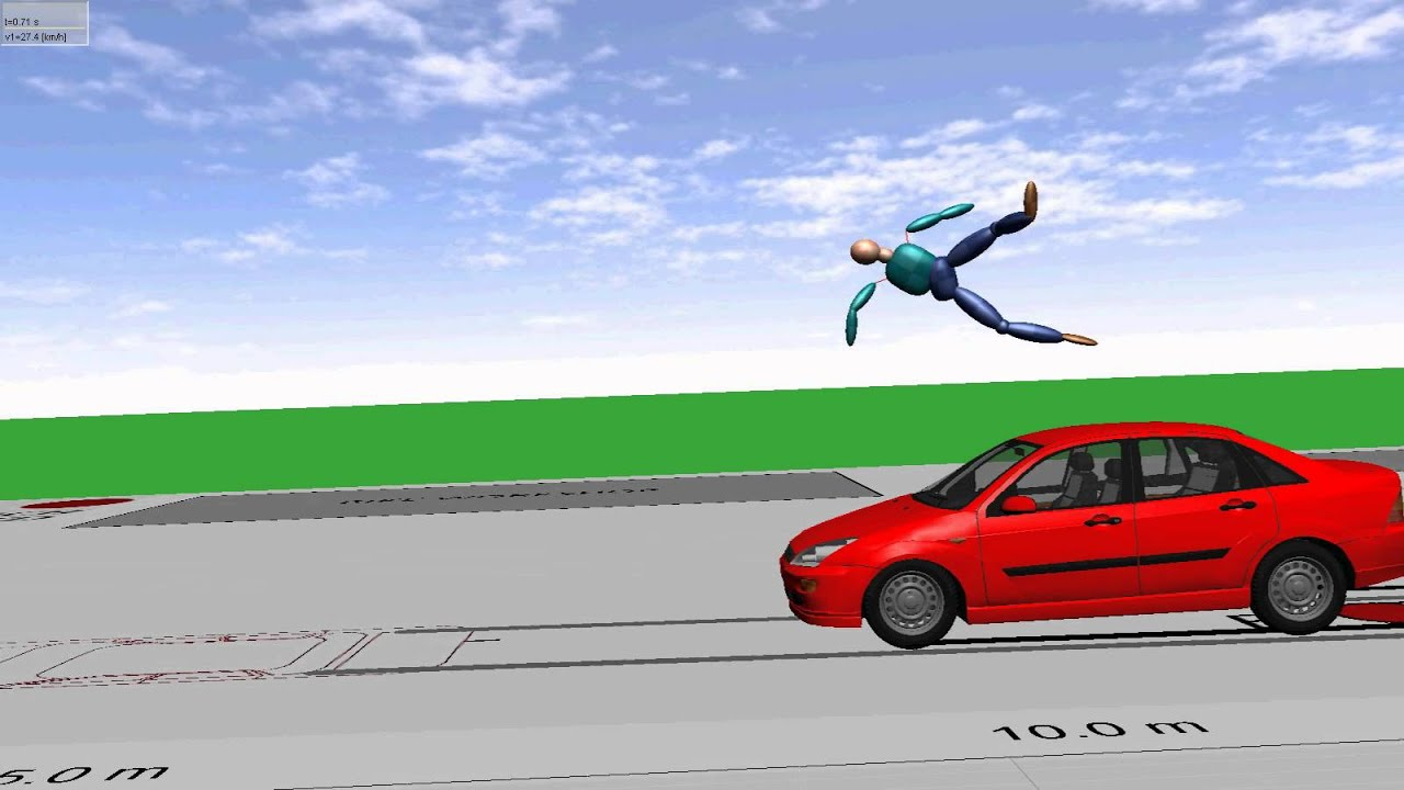 JP Research Pedestrian - Car Accident Reconstruction 3D Simulation ...