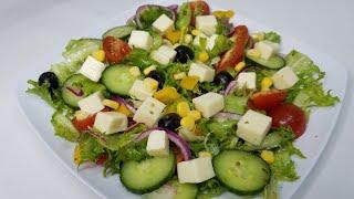 Jinsi ya kutengeneza salad nzuri ya ki greek | Greek salad recipe