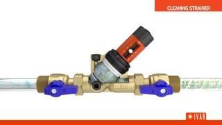 PRV - Adjustable pressure reducing valve with self-cleaning strainer