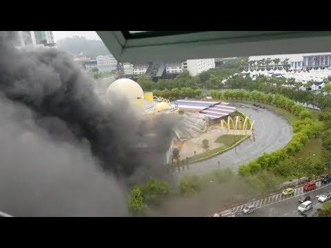 Fire at the Melaka Planetarium