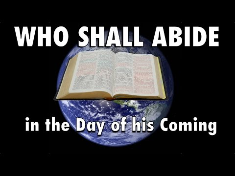 Who Will Abide the Day of His Coming?  John Martin
