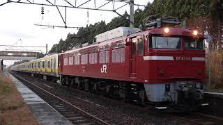 奥羽本線 EF81形+E231系 配9859レ 鯉川駅発車 2019年11月13日
