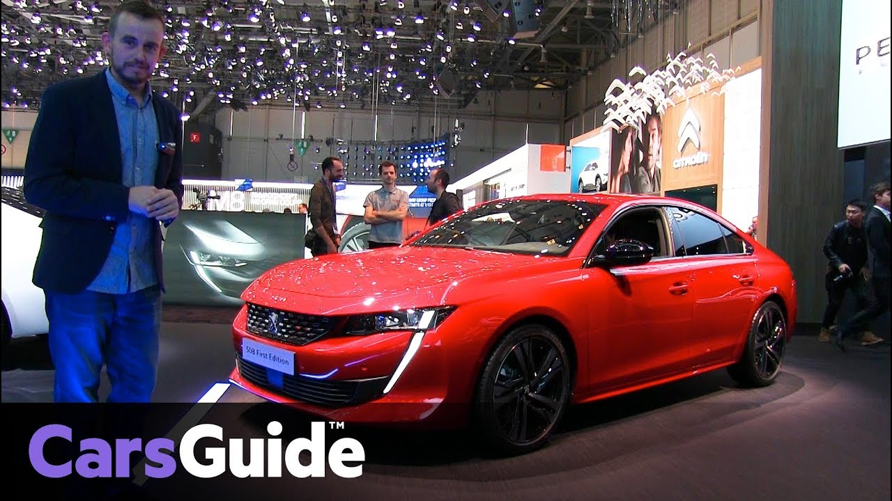 Peugeot 508 revealed at the Geneva motor show - Dauer: 2 Minuten, 1 Sekunde