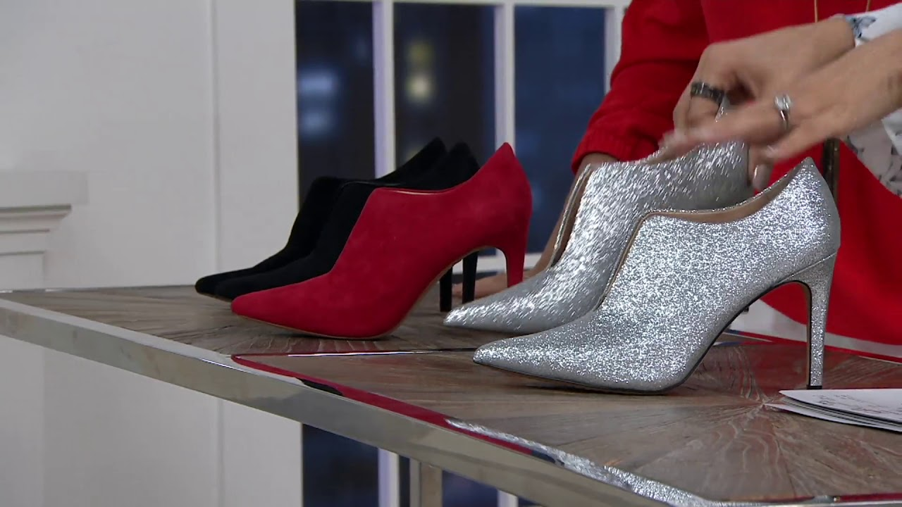 475ffcde0 Vince Camuto Front V-Cut Booties - Metseya on QVC - YouTube