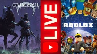 LIVE-THE DARK WORLD OF GRIM SOUL + 1 HOURS OF ROBLOX WITH SUBSCRIBERS (LIVE 60)