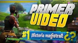 MI PRIMER VIDEO DE FORTNITE!!! - TheBloDz