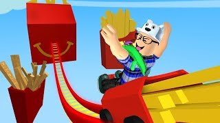 ROBLOX: DESCENDING ON THE SLIDE MADE OF FRENCH FRIES!! -Play Old man
