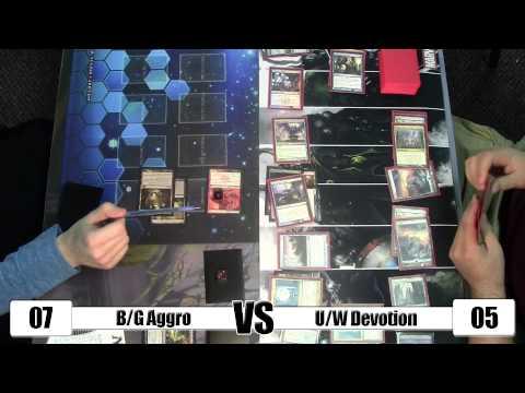 MTG - Standard Gameplay: B/G Aggro vs U/W Devotion