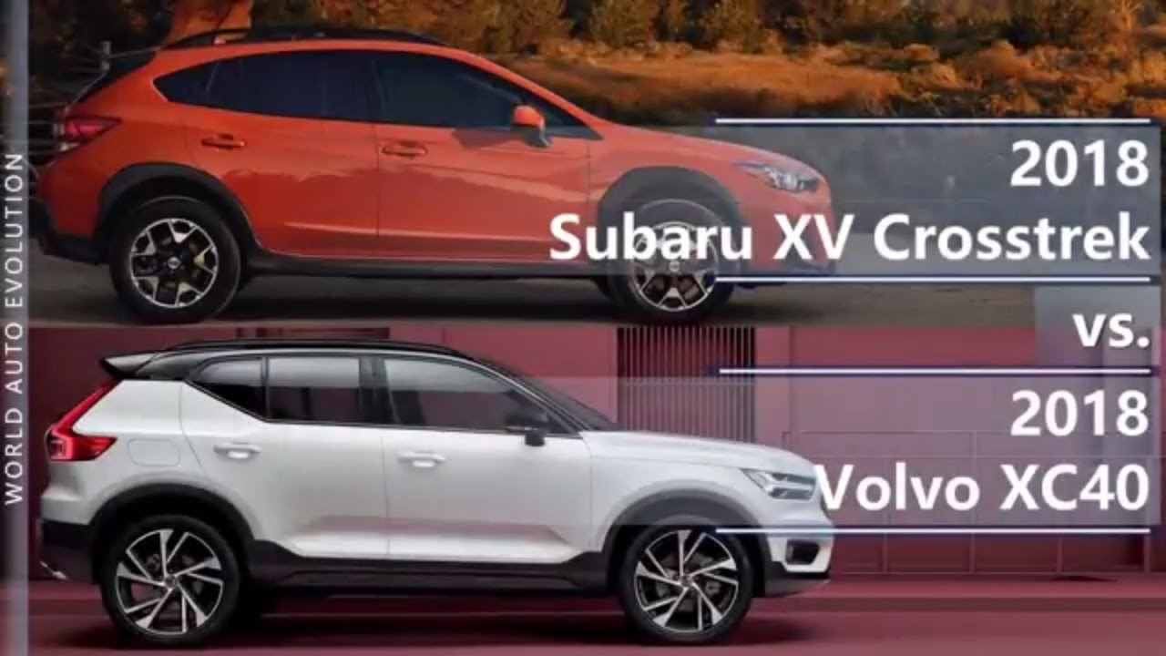 Forester Vs Outback >> 2018 Subaru XV Crosstrek vs 2018 Volvo XC40 (technical ...
