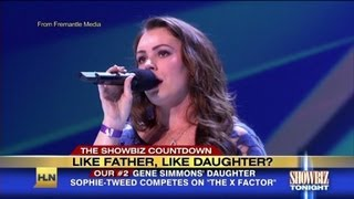 "Sophie Simmons talks ""X Factor"" audition"