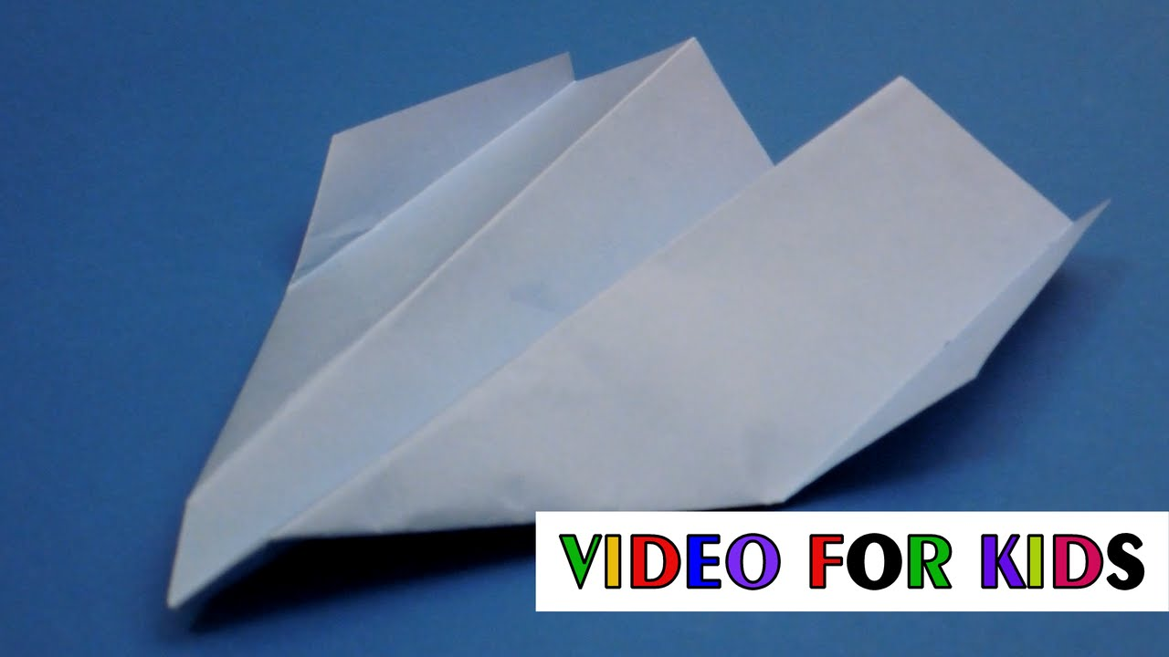 how to make a paper airplane youtube