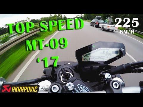 Top Speed Yamaha MT-09 (2017) 225 km/h