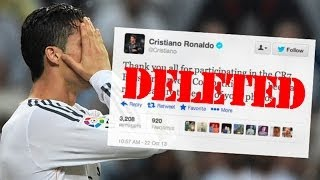 Repeat youtube video Football's Five Funniest Deleted Tweets! Ft. Cristiano Ronaldo