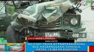BP: Military truck at pampasaherong bus, nagbanggaan sa Pasuquin, Ilocos Norte