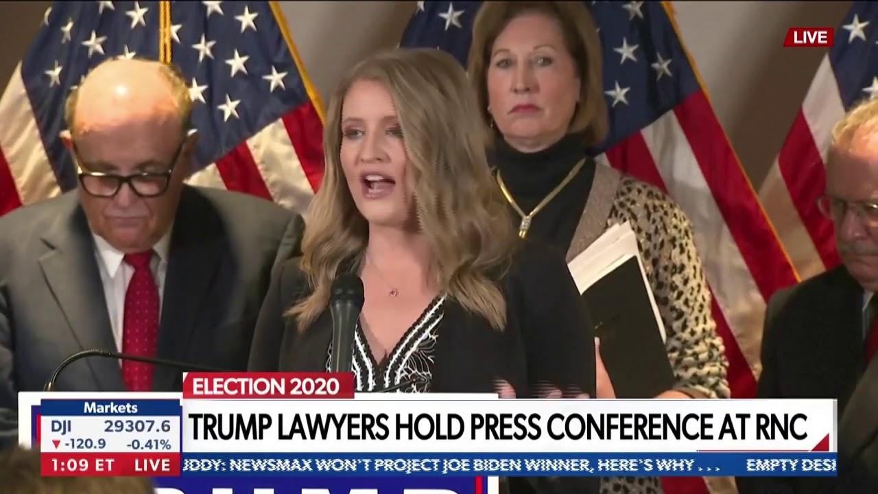 Jenna Ellis and Giuliani call out reporters, FBI
