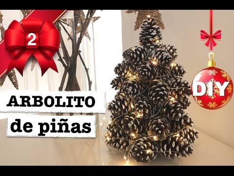 DIY NAVIDAD | ARBOL DE NAVIDAD CON PIÑAS | DECORACION