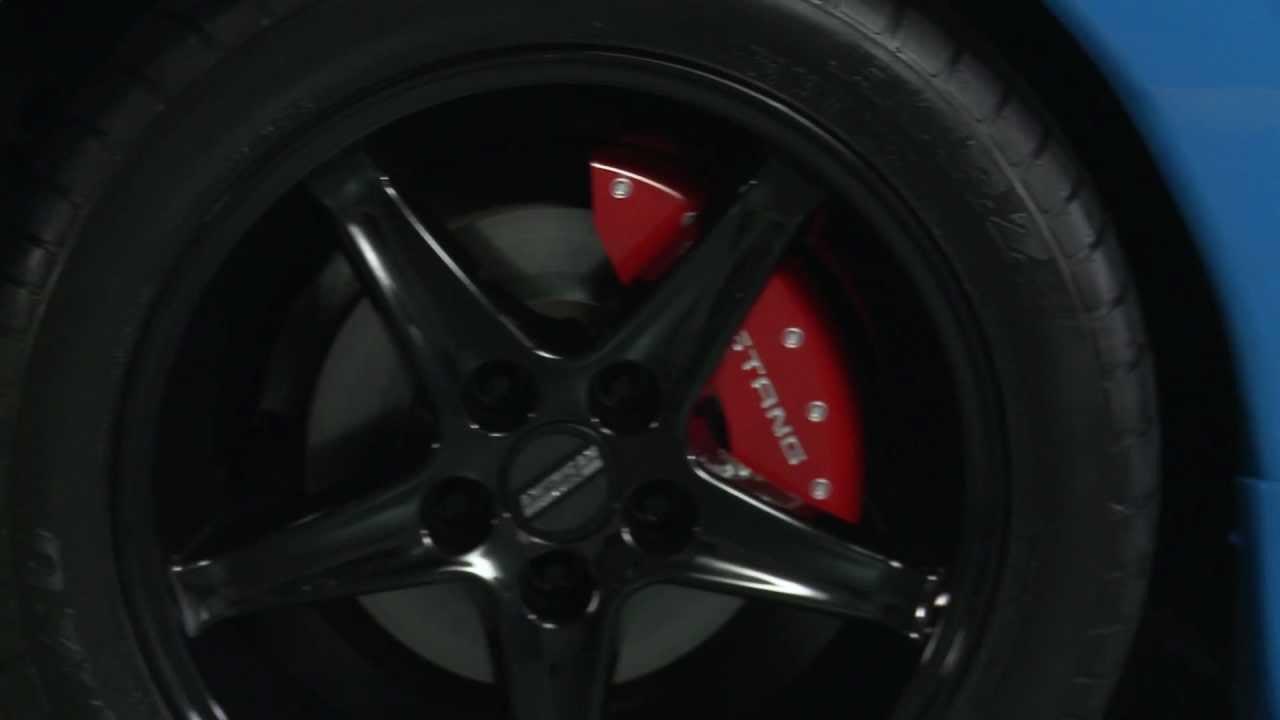 MGP Caliper Brake Cover For Ford 94-04 Mustang Black Paint 10017SCNKBK