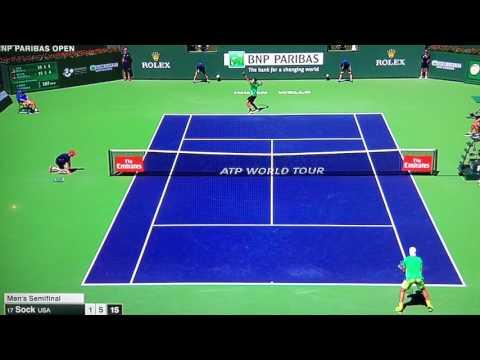 """The Facial"" - BNP Paribas Open 2017 Federer vs Sock"