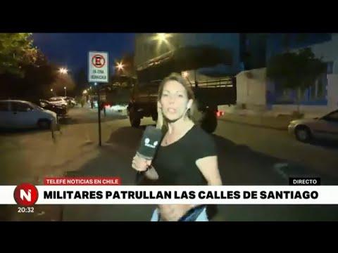 Santiago de Chile DESAFÍA el TOQUE DE QUEDA - Telefe Noticias