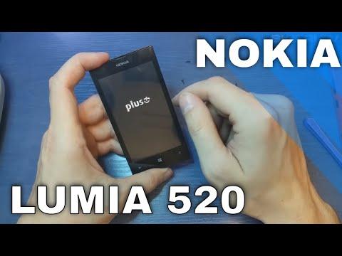 Wymiana dotyku w NOKIA LUMIA 520 - digitizer replacement - disassembly