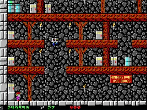 Apogee Crystal Caves I, Troubles With Twibbles, 1991. Level 11 Walkthrough