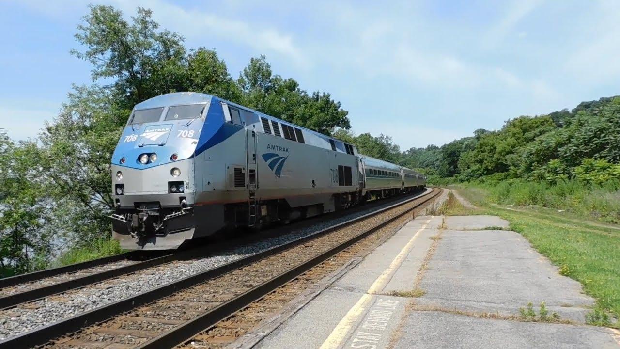 NYC bound Amtrak Train stops at Amsterdam