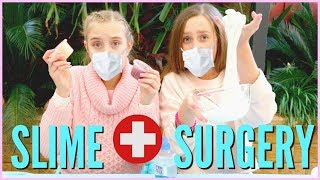 SLIME SURGERY! Fixing And Mixing Our Old Slime Collection!!