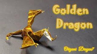 [드래곤 종이접기] Golden Dragon, 멋있는 …