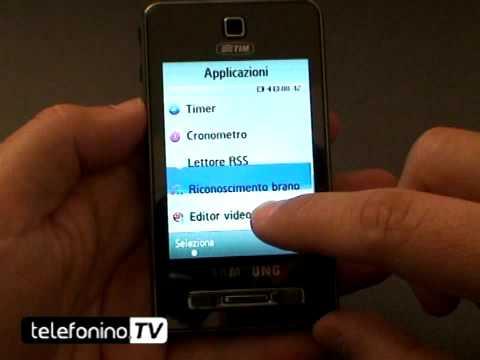 Samsung F480 videoreview da telefonino.net
