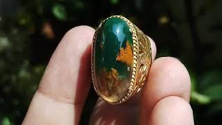 Cincin Batu Akik Pancawarna Garut Natural bukan hijau bacan pirus pandan klawing kalimaya zamrud 06
