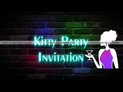 Latest Kitty Party Video Invitation Online Whatsapp Video Invitations Inviter Com