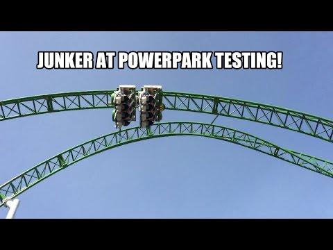 Junker Roller Coaster Test Run Powerpark Finland