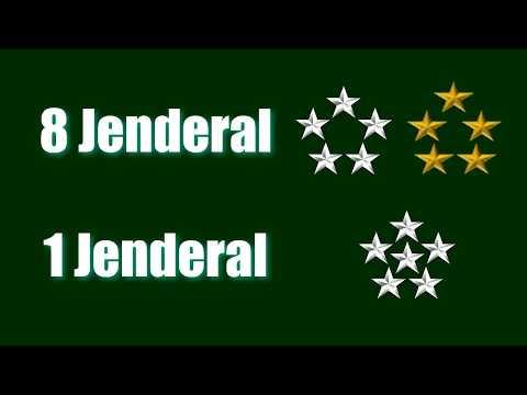Hanya Ada 1 Jenderal Bintang Enam dan 8 jenderal Bintang Lima di dunia