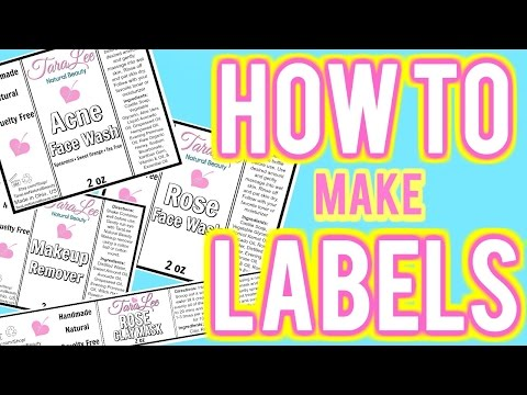 How to Make Labels, Using Picmonkey; DIY Labels for Cosmetics and more Ι TaraLee
