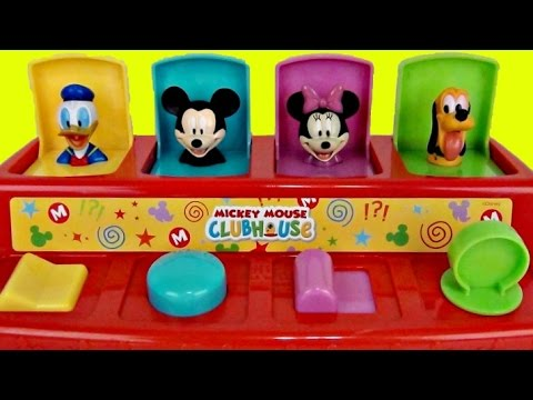 LEARN COLORS Mickey Mouse Clubhouse POP UP Toy Surprises, Minnie, Pluto, Donald Daisy Duck / TUYC