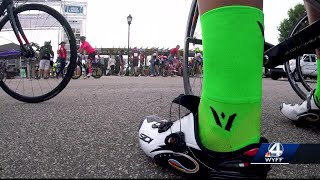 More than 300 cyclists traveling from Simpsonville to Charleston