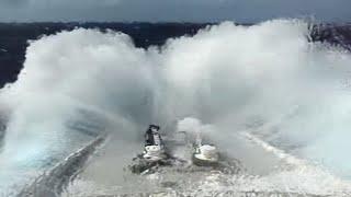 QE2 ship in rough seas Queen Elizabeth 2 North Atlantic